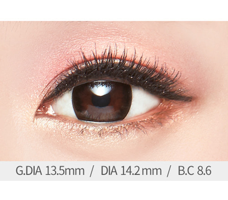 [MB02] 아이럽 다솜 블랙 (1month/2p) / 그래픽 13.5mm / 도수 0.00~-8.00