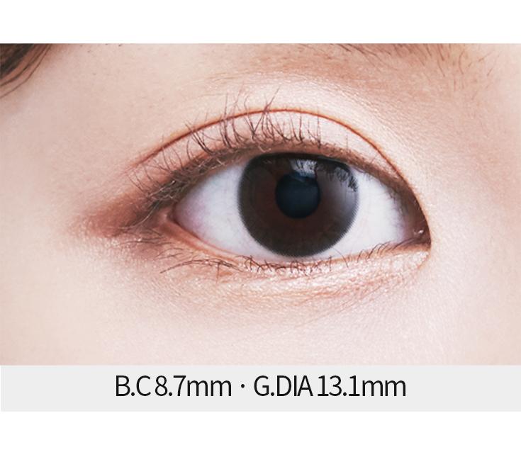 [D06] 뜨레뷰 스타리 블랙 (3days/20p) / 그래픽 13.1mm / 도수 0.00~-10.00